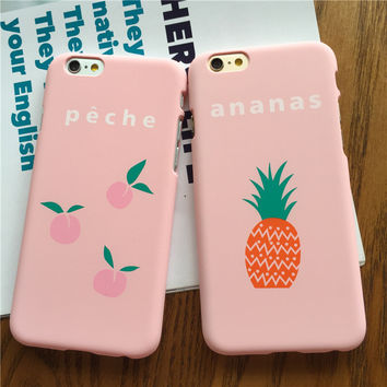 Pink Fruit Case for iPhone 7 7Plus & iPhone se 5s 6 6 Plus High Quality Cover +Gift Box