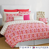 Tommy Hilfiger Preppy Ikat Cotton 3-piece Comforter Set | Overstock.com