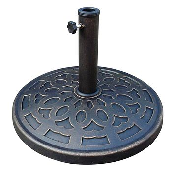 Outdoor Resin 30 lb. Umbrella Base in Black Gold Finish