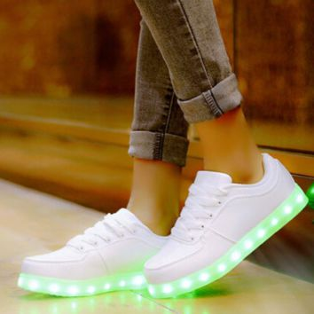 Unisex HoverKicks Luminous Light-up White