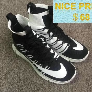 New 2018 Nike Free Flyknit Mercurial Superfly SP HTM Oreo Black White shoes