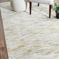 Rugs USA Jasmine Cowhide FR1 Off White Rug
