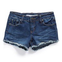 Girl's Tractr 'Basic' Frayed Denim Shorts,
