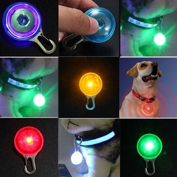 New Pet Dog Cat Puppy LED Flashing Collar Safety Night Light Pendant ( Battery NOT included ) = 1929763972