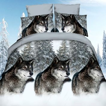 3D wolf Printing Comfortable Bedding Set Bed Cover Duvet Cover Sets Linens