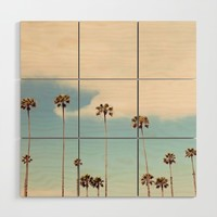 Palm trees Wood Wall Art by sylviacookphotography
