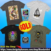 Tshirts SOLD! Thank You! on BluedarkArtDesigner's DBH Shop