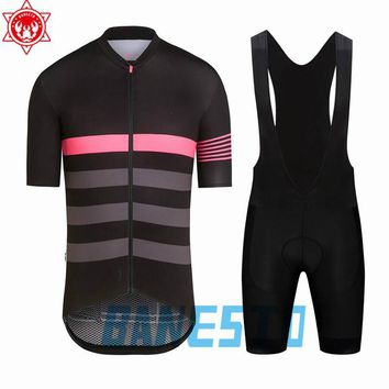 New Men's Rapha Cycling Jersey 2018 Quick-Dry Short Sleeve Cycling Wear Racing Bicycle Clothing Cycling Clothing After