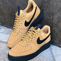 Nike Air Force Ac1 New fashion hook couple running shoes Brown