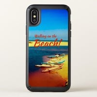 Walking on the Beach- Cool blue beach texture Speck iPhone X Case