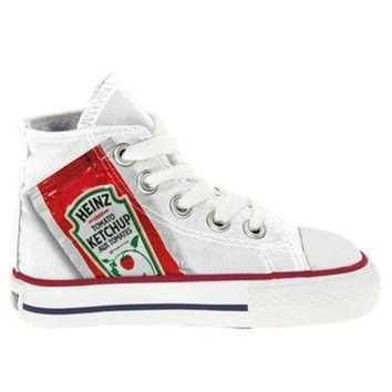 MDIGUG7 Toddler Heinz Ketchup Single Serve Converse Chucks