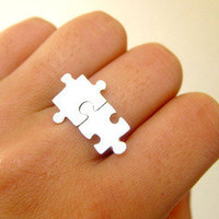 Puzzle Ring About Autism - 50% Sales go to Autism Society - - Handmade Sterling Silver | SmilingSilverSmith Handmade Silver Rings & Jewelry