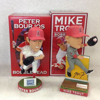Mike Trout and Peter Bourjos Bobblehead Set