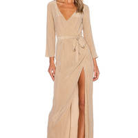 AGAIN Bianca Dress in Camel