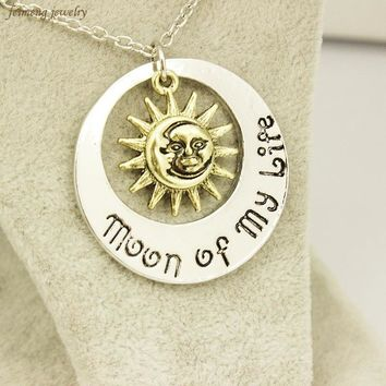 Fashion Moon of My Life Sun Star Necklace Song Of Ice And Fire  Pendants