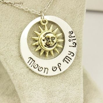 Movie Jewelry New Fashion Moon of My Life Sun Star Necklace Song Of Ice And Fire Necklace Game Of Thrones Pendants