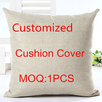 Customized Linen Cotton Cushion 45*45cm For Home Sofa Decorative Cotton Throw Sofa Decor Cojines