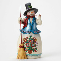 Enesco Jim Shore Heartwood Creek Snowman with Pipe Fig. NIB Item # 4047659