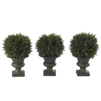 nearly natural 3-pc. Cedar Topiary Set (Green)