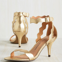500 Days of Stunner Heel in Gold | Mod Retro Vintage Heels | ModCloth.com
