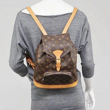 Authentic Vintage Louis Vuitton Unisex Monogram Backpack Shoulder Bag