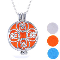 Aromatherapy Jewelry Essential Oil Diffuser Locket Necklace With Color Pad