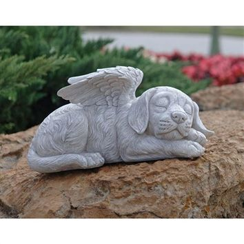 SheilaShrubs.com: Dog Memorial Angel Pet Statue QL6079 By Design