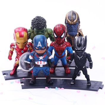 The Avengers 3 INFINITY WAR Thanos Iron Man Black Panther Spiderman Hulk PVC Action Figures Collectible Model Toy Kids Gift