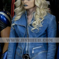 Blue Jacket worn by Caitlin Snow / Killer Frost | Killer Frost Season 4 Danielle Panabaker Jacket | Killer Frost Season 4 Danielle Panabaker Jacket