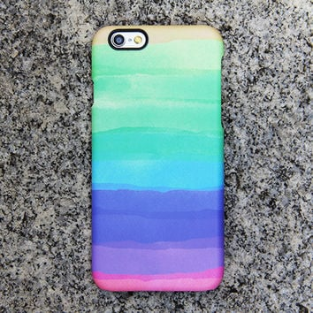 Rainbow Color iPhone 6s case iPhone 6 plus Green iPhone 5S 5 iPhone 5C iPhone 4S/4 Case Purple Samsung Galaxy S6 edge S6 S5 S4 S3 Case 038