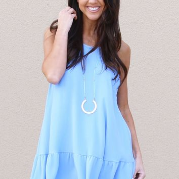 Back To Bows Dress in Sky | Monday Dress