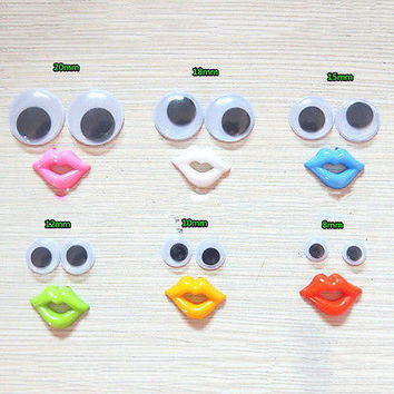 Round Mixed Wiggly Wobbly Googly Eyes For DIY Scrapbooking Crafts HU
