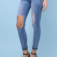 Flying Monkey Distressed Medium Wash Skinny