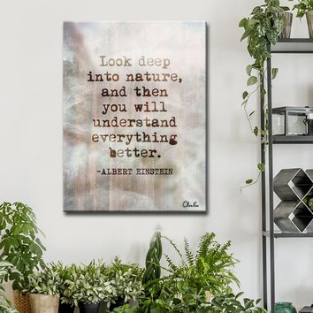 Einstein Quote Canvas Wall Art