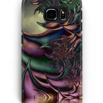 'Flora Fantasia Abstract Fractal' Samsung Galaxy Hülle & Skin by gabiwArt