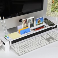 Cyanics iStick Multifunction Desk Organizer with 3 Hub USB Port, Cup Holder, Card Reader, Letter Opener, Paper Holder and more (Color: White)