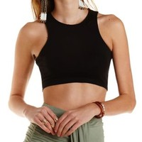 Racer Front Crop Top by Charlotte Russe