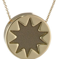 House of Harlow 1960 Khaki Mini Sunburst Pendant Necklace, 18""