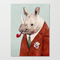 Rhino Canvas Print by Animal Crew