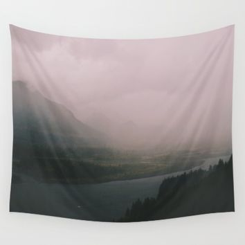 Columbia River Gorge Wall Tapestry by Hannah Kemp