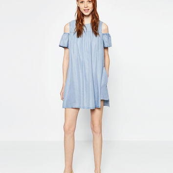 JUMPSUIT DRESS WITH CUT - OUT SHOULDERS-View all-WOMAN-NEW IN | ZARA United Kingdom