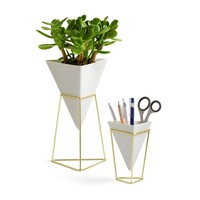 Desk Set of 2 Modern Storage Planter on Stand