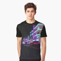 'Ocean View' Graphic T-Shirt by AxiomDesign