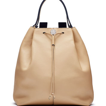 Backpack 10 Leather Hobo Bag, Beige - THE ROW