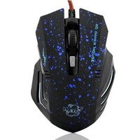 niceEshop 6 Buttons 2000 DPI  Wired LED Optical Gaming Game Mouse Mice(Blue Dotted)
