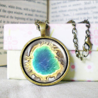 Custom Map Necklace, Grand Prismatic, Photo/ Image/ Picture, Map Jewelry | Luulla