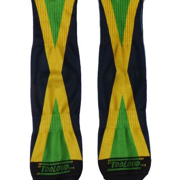 Jamaica Flag AOP Adult Crew Socks All Over Print
