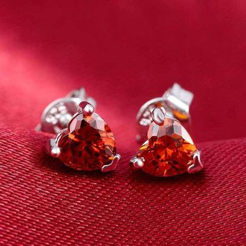 DCCKLG2 You Make My Heart Sing Ruby Stud Earrings