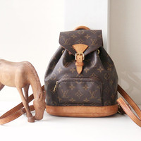 Louis Vuitton Backpack, Monogram Montsouris PM Authentic Vintage Handbag