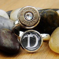 Wrap Ring, Bullet Wrap Ring, Bullet Ring, Shell Case Ring, Ammo Ring, Hunting Ring, Ammo Jewelry, Silver Bullet Ring